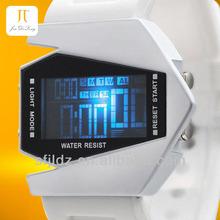 New fashion colorful aircraft shape sports led digital display watch wrist watch wall clock