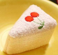 New Design Cute 100% Microfiber Wedding Gift Cake Towel