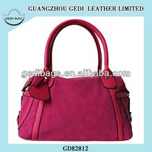 Blouse HMM&Zaa Suede Mixed PU Bag Purse Alibaba Factory Handbag Pouch Bolsos Bolsas Blouse