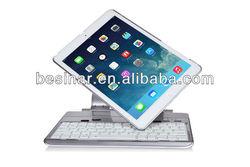 wireless bluetooth keyboard case for iPad air Rotatable Case with bluetooth keyboard