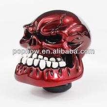 Novel Car Gear Knob/Auto Gear Universal Red Skull Color Shift Knob
