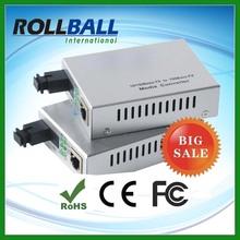Low cost fiber optic to rf media converter