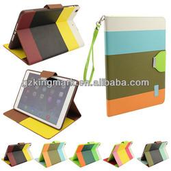 PU leather case for ipad air/ipad 5, multicolors for ipad mini case
