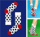 Elite Men/Women Unisex White Combed Cotton Thick Happy Socks