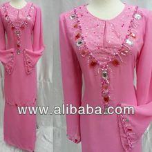 New design Chiffon Baju kurung model 2013