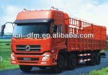 Dongfeng cargo truck/dry cargo box truck van with cummins engine
