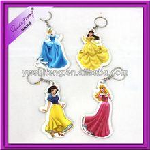Beautiful girl pvc keychain promotion gifts