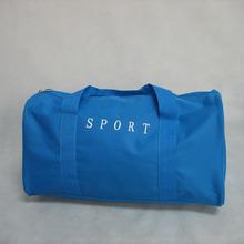 Plain Promotion Cheap Blue 600D PVC Travel Bag