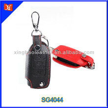 3 button remote control leather case car key case