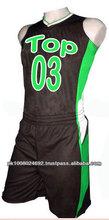 High Quality Sleeveless sublimation Custom Basketball Uniform