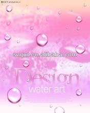 Water art design 2014 technology EL foil/poster/sign/advertising
