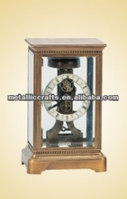 The Imitation 19th French Antique Four Glass Mantel- Brass Clock JG8002-1 with Tourbillon