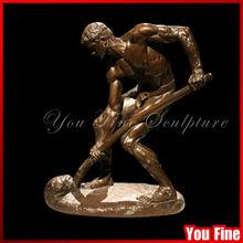 Bronze naked labour man famous sculptures