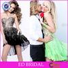 Lace Sequins Girl's Party Dresses Knee Length Short Chiffon Cocktail Dresses LX085
