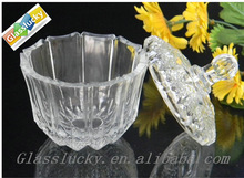 Cheap glass candy/cookie jar and glass jar for food candy