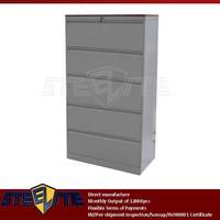 large five tier drawers steel divider cabinet furniture wooden top