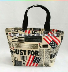 high quality canvas tote bags casual style simple hand bag for women