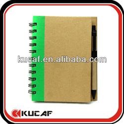 Custom kraft notebook with pen