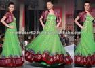 light green color long dress banarasi stylish anarkali frocks for UAE girls