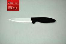 High quality rubber handle ceramic kitchen knife,porcelain knife,ceramic knife