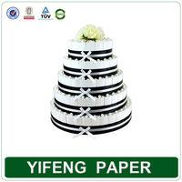Custom Elegant Design Paper Wedding Decorative Cake Boxes Wholesale