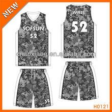 100% polyester custom european basketball shirt