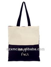 Plain design cotton canvas trendy bag wholesale cheap shopping bag