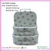 cardboard fabric suitcase set of 3pcs