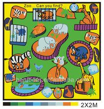 Zoo Printed Game Room Educational Carpet