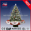 wow blinking fancy cool Snowing Xmas Tree decoration with Umbrella shape base