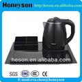 Hotel electrodomésticos caliente de la venta de acero inoxidable hervidor de agua eléctrico y tetera juego de té