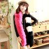 2014fashion style colorful fox fur scarf (M-FOX12L)