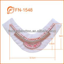 summer style women garment pink rhinestone trim