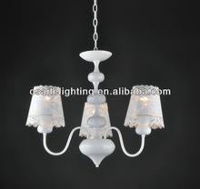 modern white 40W light fixture chandelier for hotel