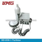 Dental handpiece turbine unit with water bottle