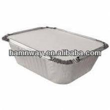 disposable aluminum foil food container lid,silver foil container lid