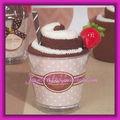 chocolate blanco rollo de ollas blanco de la boda de la copa de pastel toalla