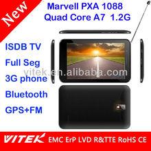 BT One seg Full seg 7inch ISDB-T 3G Quad Core Tablet