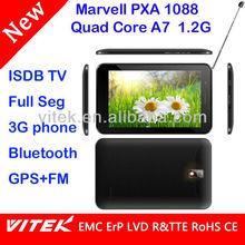 One seg Full seg ISDB Quad core 7 inch Tablet PC 3G sim card slot TV GPS
