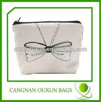 Superior quality small canvas zipper bag