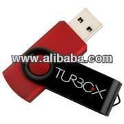 Turbo-X Buddy Metallic Red 4GB Usb Stick 2.0