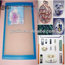 Gezi 18mesh-420mesh white or yellow plain weave screenprinting supplies