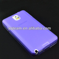 New Arrival For samsung galaxy note3 N9000 TPU Transparent Case With Dustproof Plug