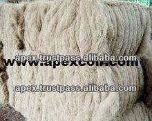 Coir fiber for carpet making