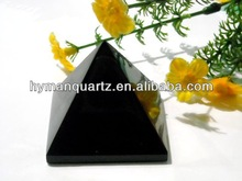Natural rock stone carved crystal pyramids, black crystal pyramids, obsidian crystal pyramids carvings