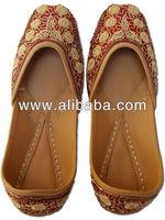Designer Jaipuri Beads Work Ethnic Women's Shoes Mojari Men Punjabi Juttis JJ138