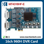 new low price hardware compression MT4316HF-E H.264 16 channel 960H PCI-E DVR Card in big stock