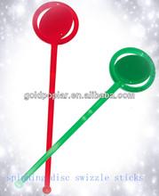 plastic spinning swizzle sticks