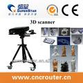 Cnc router 3d escáner para madera cylider& 3d material