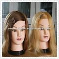 cabezas de maniquí pelo largo / cabeza de formación de peluquería cabello real y la escuela de belleza